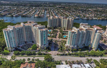 An aerial view of our Boca Raton condos.