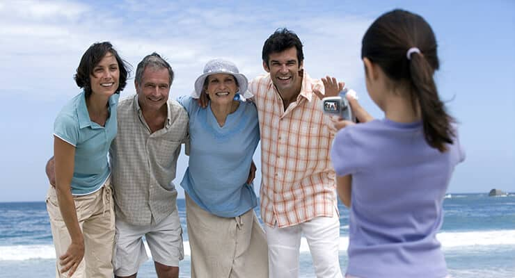 Boca Raton beach family